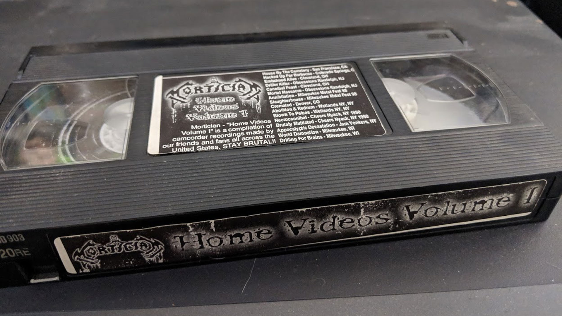 Mortician Home Videos Volume 1 VHS Transfer